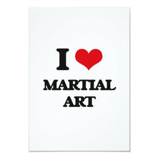 Amo arte marcial invitación 8,9 x 12,7 cm