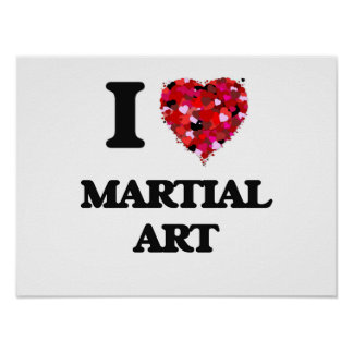 Amo arte marcial póster
