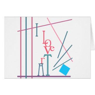Amo arte tarjeta de felicitación