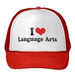 Amo artes de lengua gorros bordados