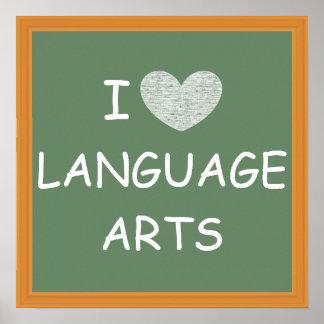 Amo artes de lengua póster