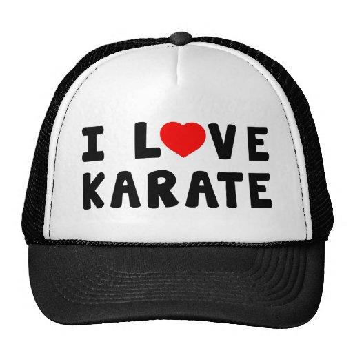 Amo artes marciales del karate gorros bordados
