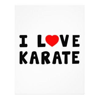 Amo artes marciales del karate membrete personalizado
