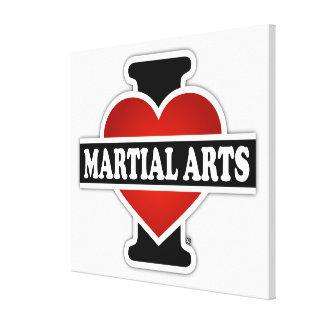 Amo artes marciales impresion de lienzo