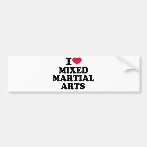 Amo artes marciales mezclados pegatina de parachoque