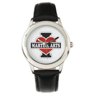 Amo artes marciales relojes de pulsera