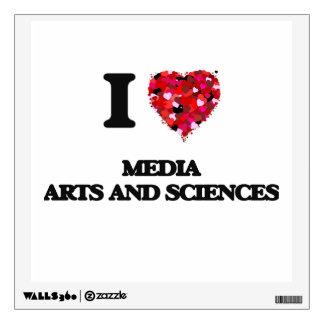 Amo artes y ciencias de los medios vinilo decorativo