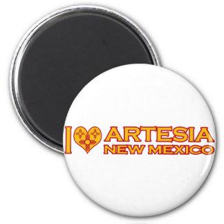 Amo Artesia, nanómetro Imán Redondo 5 Cm