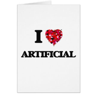 Amo artificial tarjeta de felicitación