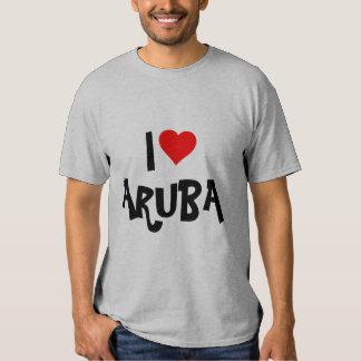 """Amo Aruba"" creo para requisitos particulares Playera"