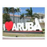 Amo Aruba - una isla feliz Postal