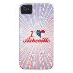 Amo Asheville, Carolina del Norte iPhone 4 Case-Mate Carcasa