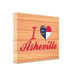 Amo Asheville, Carolina del Norte Impresiones En Lona Estiradas