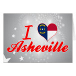 Amo Asheville, Carolina del Norte Tarjeta