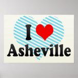 Amo Asheville, Estados Unidos Posters