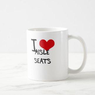 Amo asientos de pasillo tazas de café