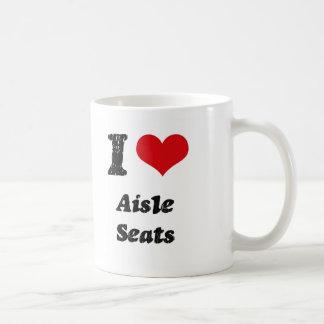 Amo asientos de pasillo taza de café