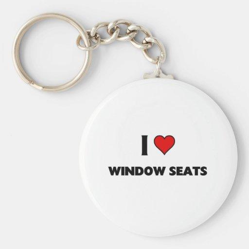 Amo asientos de ventana llavero personalizado