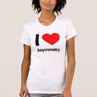 amo asimetría camisetas