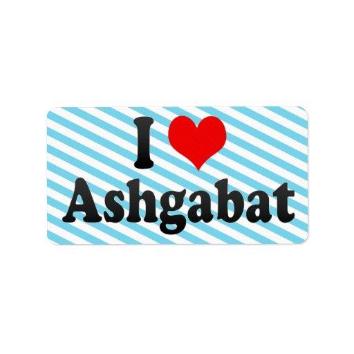 Amo Asjabad, Turkmenistán Etiqueta De Dirección