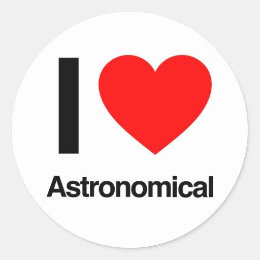 amo astronómico pegatinas redondas