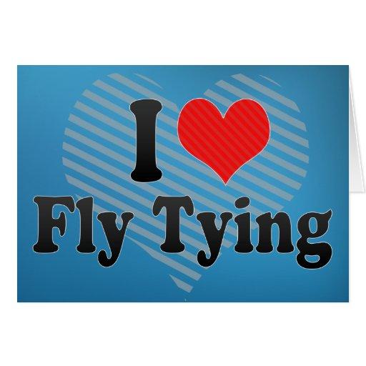 Amo atar de la mosca felicitaciones