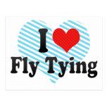 Amo atar de la mosca tarjetas postales