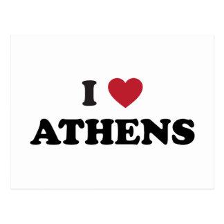 Amo Atenas Georgia Tarjeta Postal