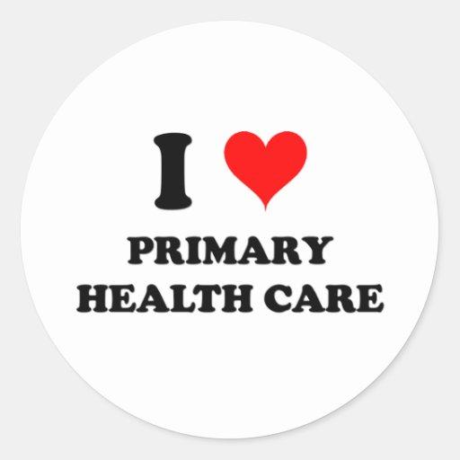 Amo atención sanitaria primaria pegatina redonda