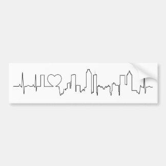 Amo Atlanta en un estilo extraordinario del ecg Etiqueta De Parachoque