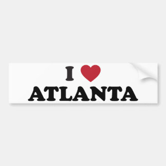 Amo Atlanta Georgia Etiqueta De Parachoque