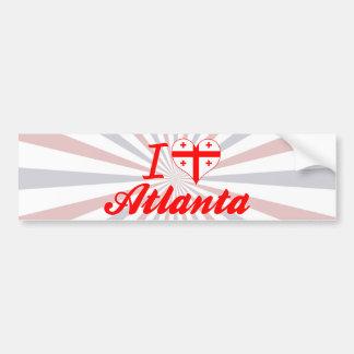 Amo Atlanta, Georgia Etiqueta De Parachoque