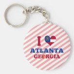 Amo Atlanta, Georgia Llavero Personalizado