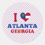 Amo Atlanta, Georgia Pegatina Redonda