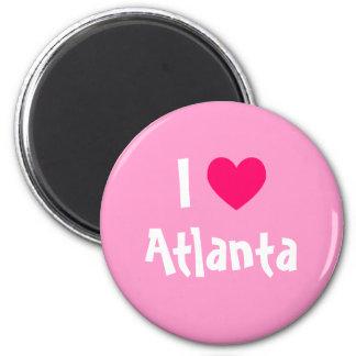 Amo Atlanta Imán Redondo 5 Cm