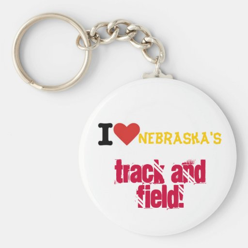 Amo atletismo de los nebraskas llaveros