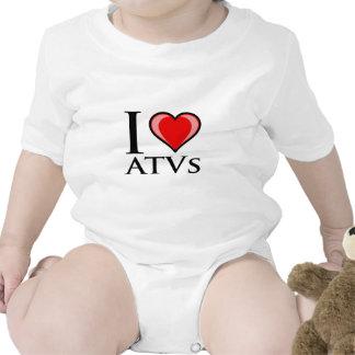 Amo ATVs Camisetas