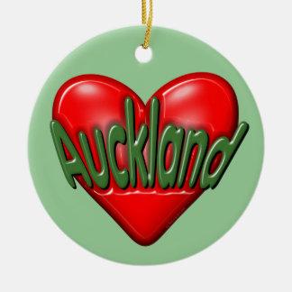 Amo Auckland Adorno Navideño Redondo De Cerámica