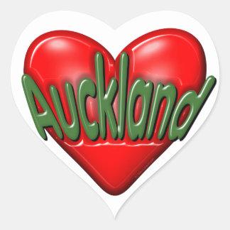 Amo Auckland Pegatina En Forma De Corazón