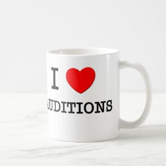 Amo audiciones tazas de café