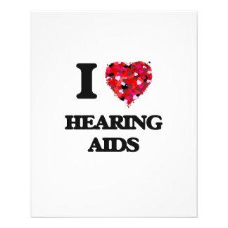 "Amo audífonos folleto 4.5"" x 5.6"""