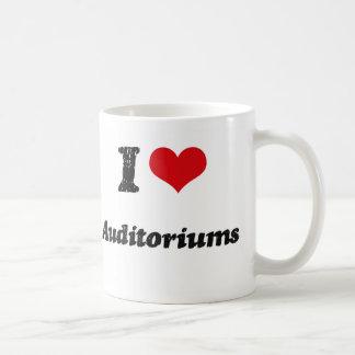 Amo auditorios tazas de café