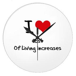 Amo aumentos de costo de vida relojes