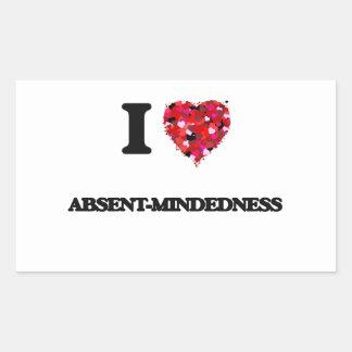 Amo Ausente-Mindedness Pegatina Rectangular
