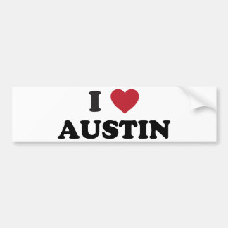 Amo Austin Pegatina De Parachoque