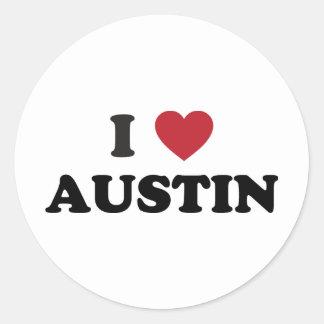 Amo Austin Etiquetas Redondas