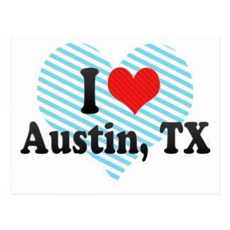 Amo Austin, TX Tarjeta Postal