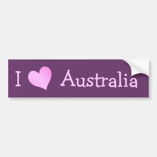 Amo Australia Etiqueta De Parachoque