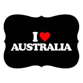 """AMO AUSTRALIA INVITACIÓN 5"""" X 7"""""""