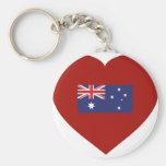 Amo Australia Llavero Redondo Tipo Pin